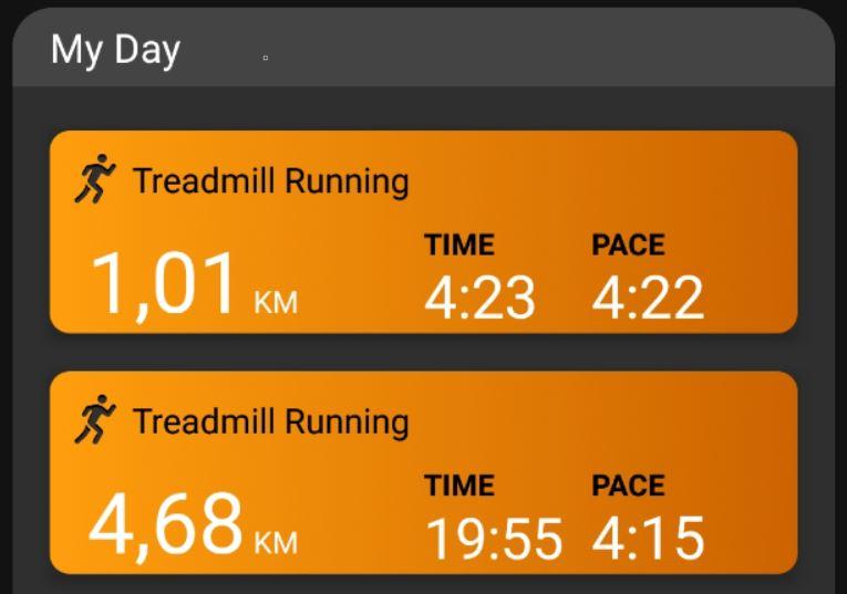 14 November – Treadmill Training Session