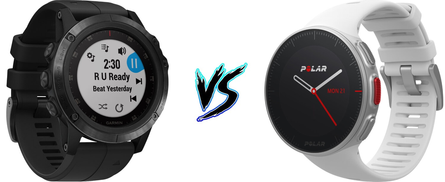 Polar Vantage V vs Garmin Fenix 5 Plus