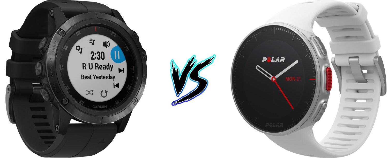 Polar Vantage V vs Garmin Fenix 5 Plus - 5KRunning com