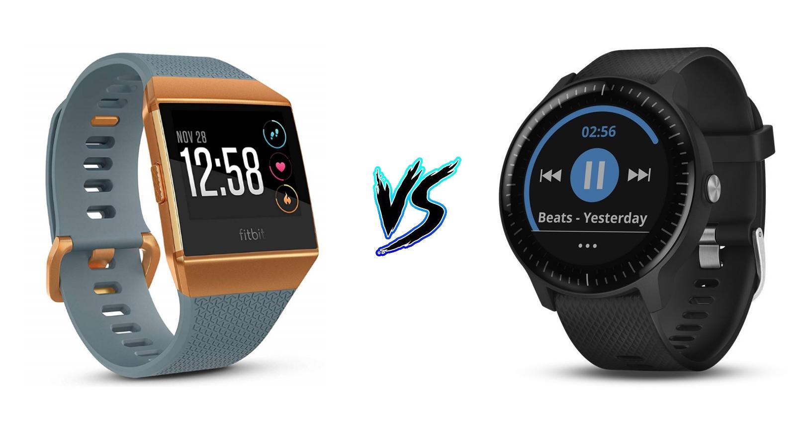 Fitbit Ionic vs Garmin Vivoactive 3 Music