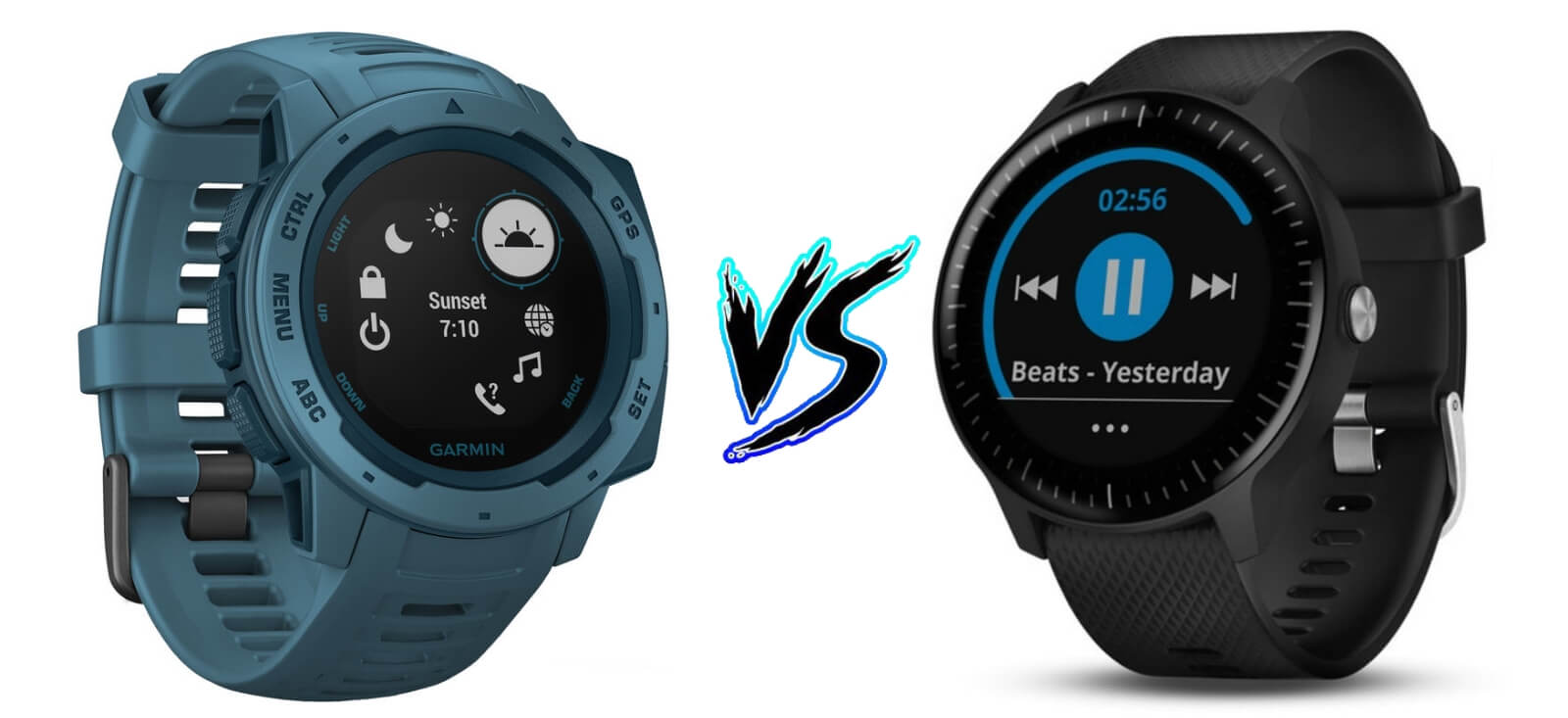 Garmin_Instinct vs Vivoactive 3 Music