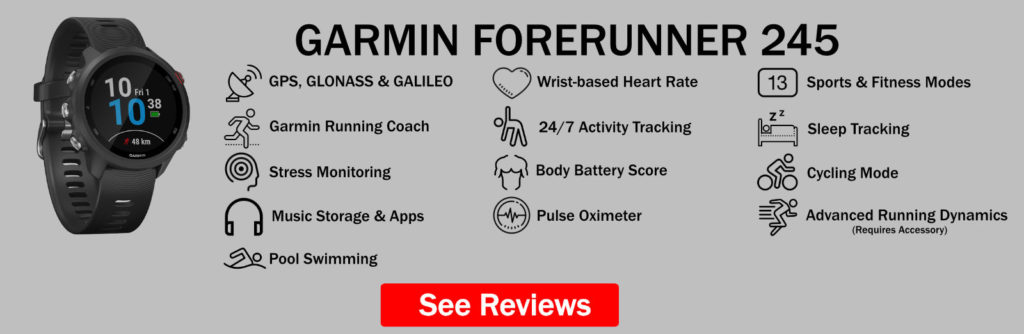Garmin Forerunner 245 Features Summary