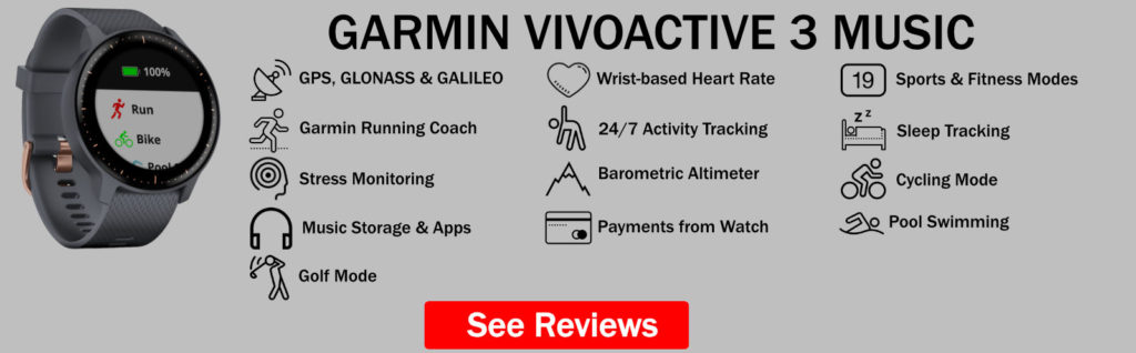 Garmin Vivoactive 3 Music Features Summary